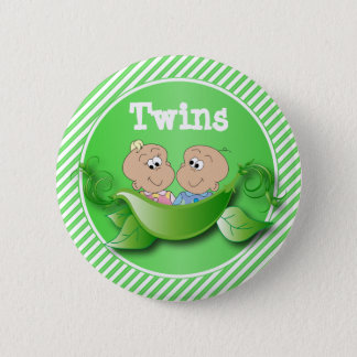 Twins Boy & Girl | Baby Shower Theme Pinback Button