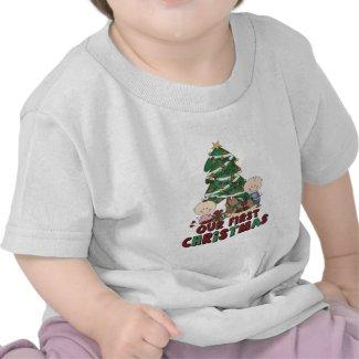 Twins Boy & Girl first Christmas Tshirt