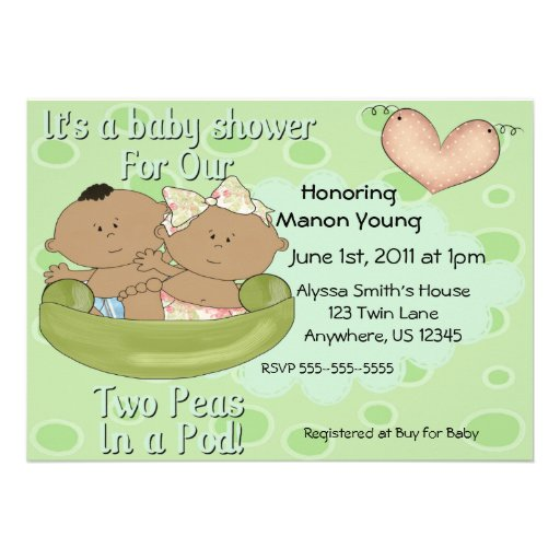 Pea In The Pod Baby Shower Invitations for perfect invitations ideas
