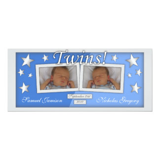 Twins ~ Boys Birth Announcements