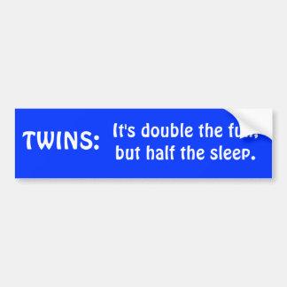TWINS bumpersticker Bumper Sticker