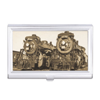 """""""Twins"""" Canadian National Railroad Locomotives Case For Business Cards"""