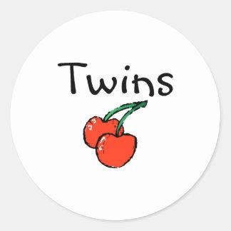 Twins (Cherries) Classic Round Sticker