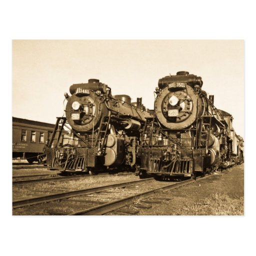 """Twins""  CN Railroad  Locomotives 3461 and 3501 Postcard"