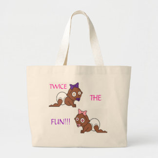Twins collection 2 large tote bag