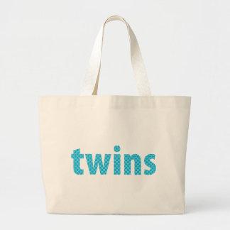 TWINS COLLECTION - boys {aqua} Canvas Bag