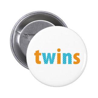 TWINS COLLECTION - boys {orange + aqua} Buttons