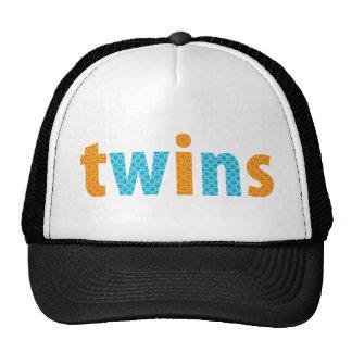 TWINS COLLECTION - boys {orange + aqua} Hats