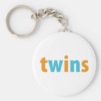 TWINS COLLECTION - boys {orange + aqua} Keychains