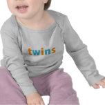 TWINS COLLECTION - boys {orange + aqua} Tshirt