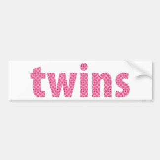 TWINS COLLECTION - girls {pink} Car Bumper Sticker