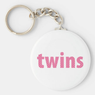 TWINS COLLECTION - girls {pink} Keychain