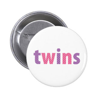 TWINS COLLECTION - girls {violet + pink} Pinback Button