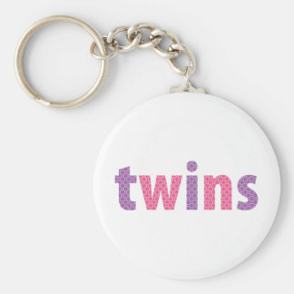 TWINS COLLECTION - girls {violet + pink} Key Chain