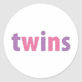 TWINS COLLECTION - girls violet + pink Sticker