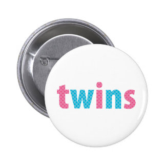 TWINS COLLECTION - mixed {aqua + pink} Button