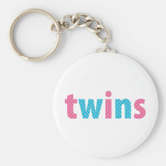 TWINS COLLECTION - mixed {aqua + pink} Key Chains