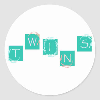 Twins cubes stickers