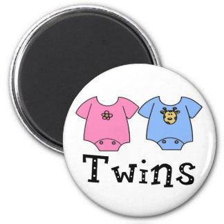Twins Cute Bodysuit 1 girl & 1 Boy Refrigerator Magnet