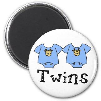 Twins Cute Bodysuit 2 boys Refrigerator Magnets