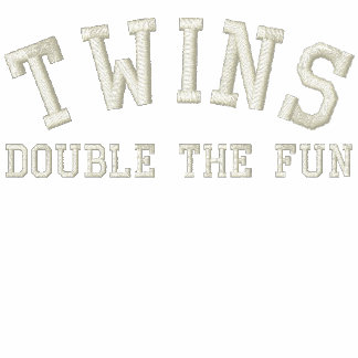 TWINS; Double the Fun Embroidered Hoodie