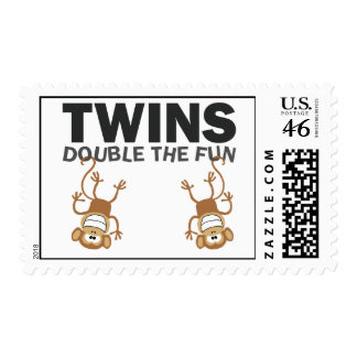 TWINS Double The Fun Postage Stamp