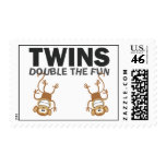 TWINS; Double The Fun Postage Stamp