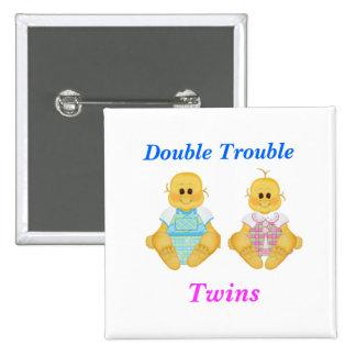 Twins Double Trouble Button