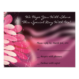 Twins Dove of Peace B'nai Mitzvah Bat Reply Card Personalized Invite