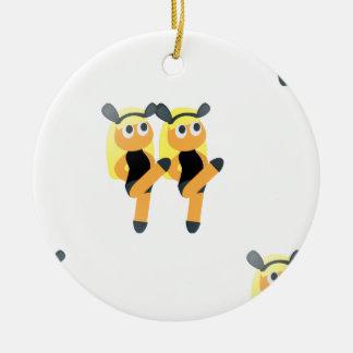twins emoji ceramic ornament