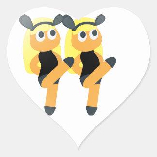 twins emoji heart sticker