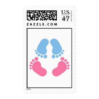 Twins feet postage stamp