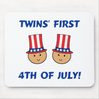 Twins First 4th of July Mouse Pad