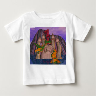Twins first birthday two cute patchwork DragoN Baby T-Shirt