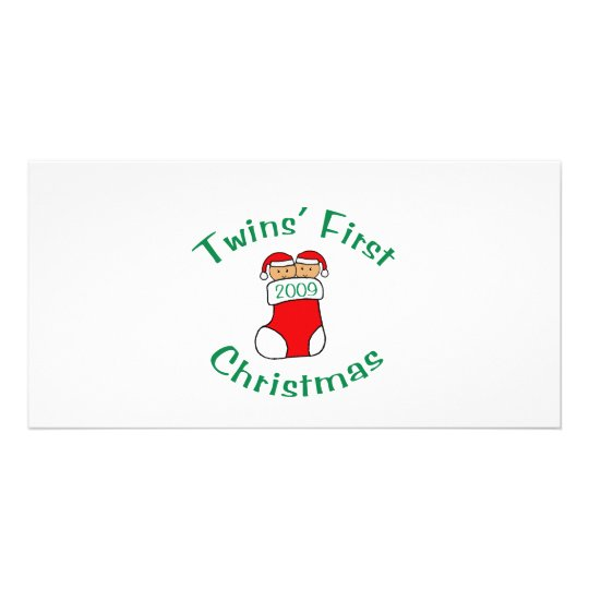 Twins First Christmas Card
