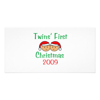 Twins First Christmas Personalized Photo Card