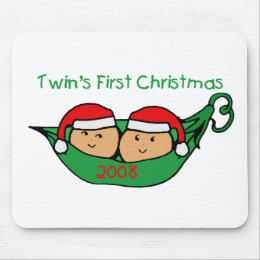 Twins First Christmas - Pod 2008 Mouse Pad