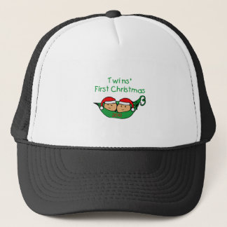 Twins First Christmas Trucker Hat