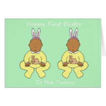 Twins First Easter Card