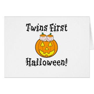 Twins First Halloween Card