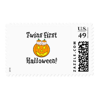 Twins First Halloween Postage