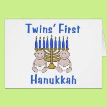 Twins First Hanukkah Card