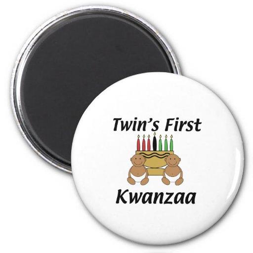 Twins First Kwanzaa 2 Inch Round Magnet