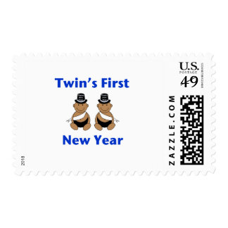 Twins First New Year AA (no date) Postage Stamp