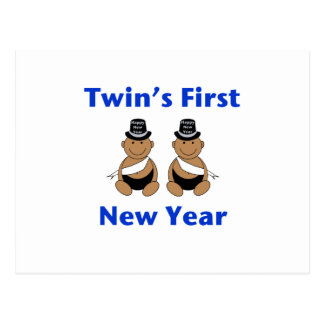 Twins First New Year AA (no date) Postcard