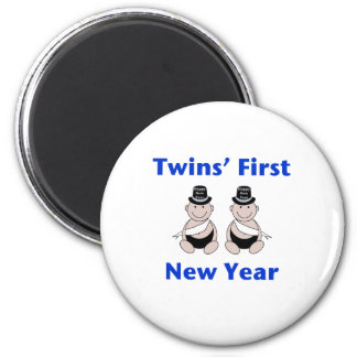 Twins First New Year (no date) Magnet