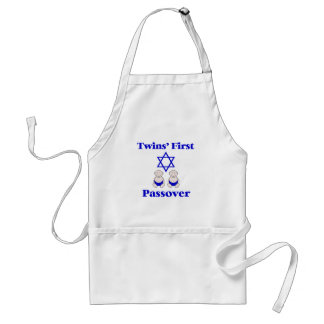 Twins First Passover Adult Apron