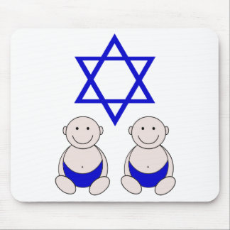 Twins First Passover Graphic Mouse Pad