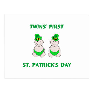 Twins First St. PatrickÕs Day Postcard