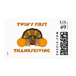 Twins First Thanksgiving AA Stamp